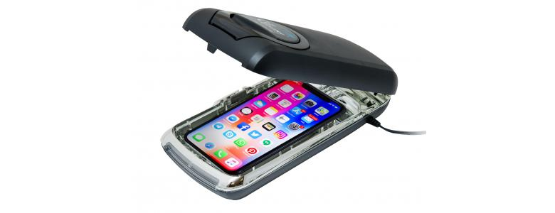 The Cellblaster®  - portable cell phone sanitizer